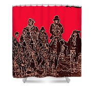 Geronimo And Family Surrendering Collage Number 1 C.s. Fly 1887-2012 Shower Curtain