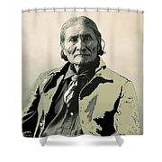 Geronimo As Photographed By A. Rinehart Omaha Nebrasks  1898-2013.  Shower Curtain