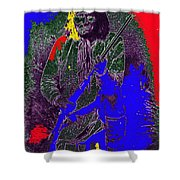 Geronimo Film Homage  Stylized Ben Wittick Photo Shower Curtain