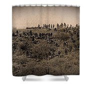 Geronimo's Band Of Warriors When He Surrendered To General Crook  September 4 1886 Shower Curtain