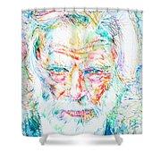 Gerry Mulligan - Portrait Shower Curtain