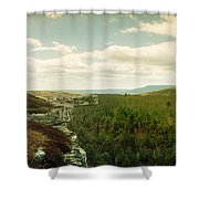 Gertrudes Nose Hiking Trail Shower Curtain