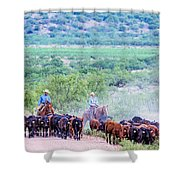 Get Along Lit' Dogies Shower Curtain