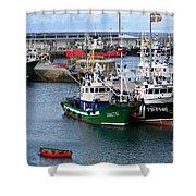 Getaria Fishing Fleet Shower Curtain