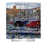 Getaria In Basque Country Spain Shower Curtain
