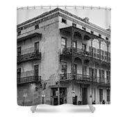 Gettin' By In New Orleans Bw Shower Curtain