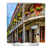 Getting Around The French Quarter - Watercolor Shower Curtain