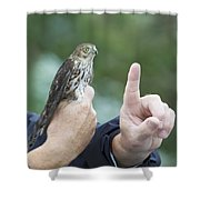Getting The Finger Shower Curtain