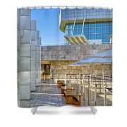 Getty Center Tram Waiting Area Brentwood  Ca Shower Curtain