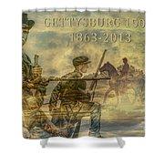 Gettysburg Anniversary 150 Years Shower Curtain