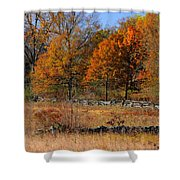 Gettysburg At Rest - Autumn Looking Towards The J. Weikert Farm Shower Curtain