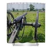 Gettysburg Cannon 2  Shower Curtain