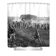 Gettysburg Reenactment Shower Curtain