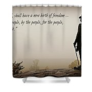 Gettysburg Remembrance Shower Curtain