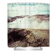 Geyser Sol De Manana Shower Curtain