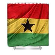 Ghana Flag Shower Curtain