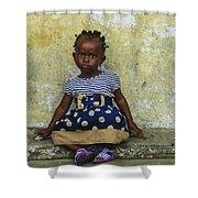 Ghanaian Child Shower Curtain