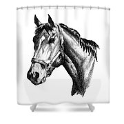 Ghazibella Thoroughbred Racehorse Filly Shower Curtain