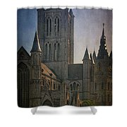 Ghent Skyline Shower Curtain