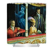 Ghost At The Theatre Shower Curtain