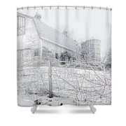 Ghost Barn Shower Curtain