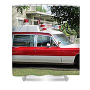 Ghost Buster Style Ambulance Shower Curtain