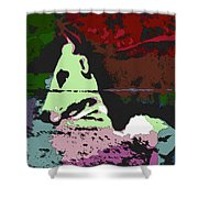 Ghost Cow Shower Curtain