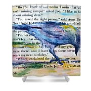 Ghost Crow Shower Curtain