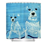 Ghost Dogs Shower Curtain