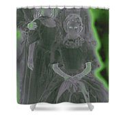 Ghost Family Portrait Shower Curtain