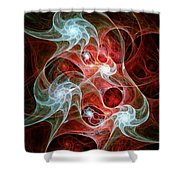 Ghost Flames Shower Curtain