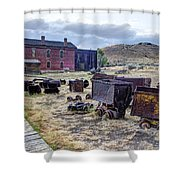 Ghost Mining Town Of Montana Shower Curtain