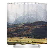 Ghost Mountains Shower Curtain