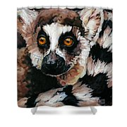 Ghost Of Madagascar Shower Curtain