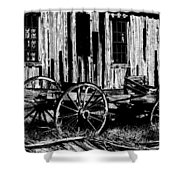 Ghost Of The Town Shower Curtain