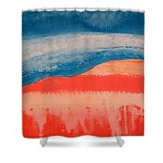 Ghost Ranch Original Painting Shower Curtain