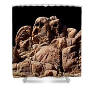 Ghost Rocks Or Ghosts Rock Shower Curtain