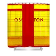 Ghost Station In Red And Yellow Shower Curtain