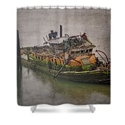 Ghost Steamer Shower Curtain