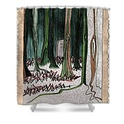 Ghost Stories Forest Graveyard By Jrr Shower Curtain