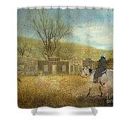 Ghost Town #1 Shower Curtain