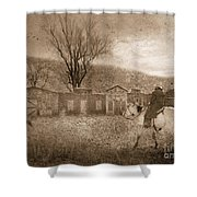 Ghost Town #2 Shower Curtain