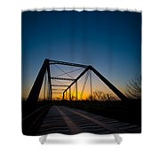 Ghost Town Bridge Shower Curtain