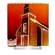 Ghost Town Church Shower Curtain