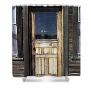Ghost Town Handcrafted Door Shower Curtain