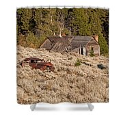 Ghost Town Remains Shower Curtain