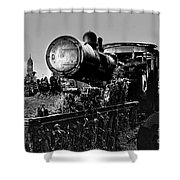 Ghost Train In Paranapiacaba - Locobreque Shower Curtain