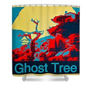 Ghost Tree Poster Shower Curtain