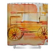 Ghost Wagon Shower Curtain