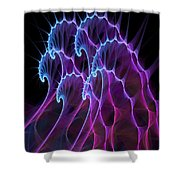 Ghost Waves Shower Curtain